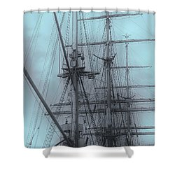 Shower Curtain featuring the photograph Gorch Fock ... by Juergen Weiss