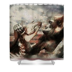 Shower Curtain featuring the photograph Gorilla  by Christine Sponchia