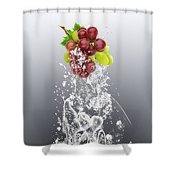 Grape Splash Shower Curtain by Marvin Blaine