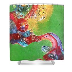 Green Harmony Shower Curtain