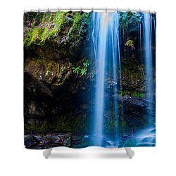 Shower Curtain featuring the photograph Grotto Falls by Jay Stockhaus