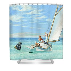 Ground Swell Shower Curtain