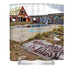 2 Guns Koa Shower Curtain
