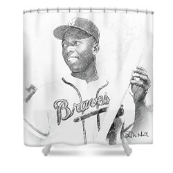Hank Aaron Shower Curtain