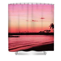 Hawaiian Sunset Shower Curtain by Kristine Merc