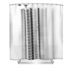 Heating Spiral - Electric Light Filament Shower Curtain by Michal Boubin