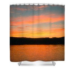 Shower Curtain featuring the photograph Highland Lake by Jesse Ciazza
