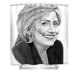Hillary Clinton Shower Curtain by Murphy Elliott