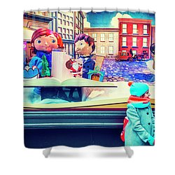 Holiday Widow Display In New York Shower Curtain