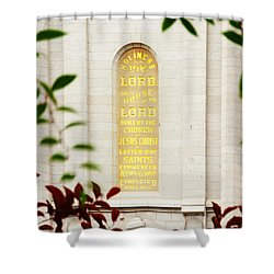 Holiness To The Lord Shower Curtain by La Rae  Roberts
