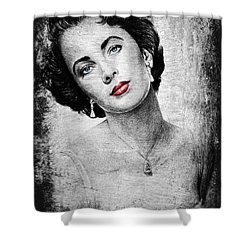 Hollywood Greats Elizabeth Taylor Shower Curtain by Andrew Read