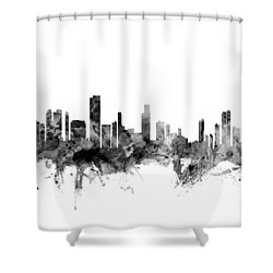 Honolulu Hawaii Skyline Shower Curtain