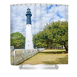 Hunting Island Lighthouse Shower Curtain