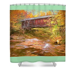 Hutchins Bridge Shower Curtain by John Selmer Sr