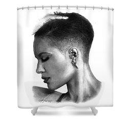 Halsey Drawing By Sofia Furniel Shower Curtain