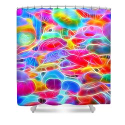 In Color Abstract 9 Shower Curtain by Cathy Anderson