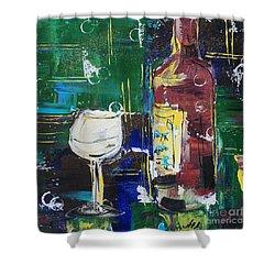 In Vino Veritas. Wine Collection 12 Shower Curtain