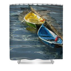 2 In Waiting Shower Curtain by Dale Stillman
