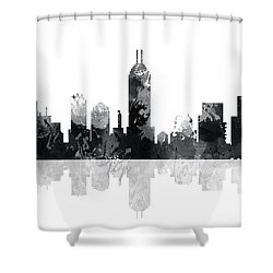 Indiana Indianapolis Skyline Shower Curtain