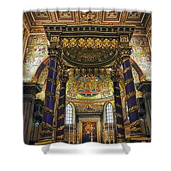 Interior View Of The Basilica Di Santa Maria Maggiore In Rome Italy Shower Curtain