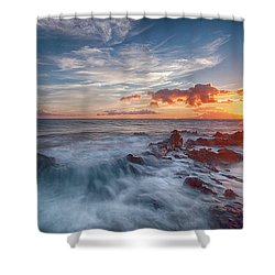 Into The Mystic Shower Curtain by James Roemmling
