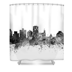 Jackson Mississippi Skyline Shower Curtain