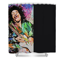 Jimi Hendrix Shower Curtain by Richard Day