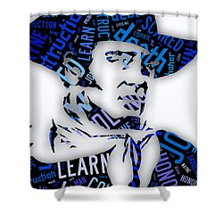 John Wayne Famous Quotes Shower Curtain