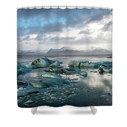 Shower Curtain featuring the photograph Jokulsarlon, The Glacier Lagoon, Iceland 3 by Dubi Roman