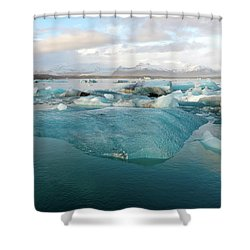 Jokulsarlon The Glacier Lagoon, Iceland 2 Shower Curtain
