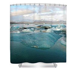 Shower Curtain featuring the photograph Jokulsarlon The Glacier Lagoon, Iceland 2 by Dubi Roman