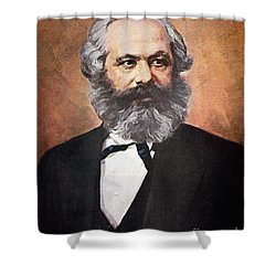 Karl Marx Shower Curtain by Unknown