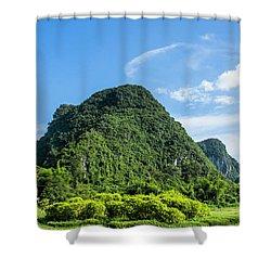 Karst Mountains Scenery Shower Curtain