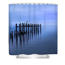 Colorful Overcast At Twilight Shower Curtain