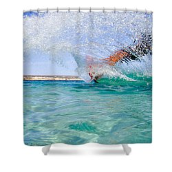 Kitesurfing Shower Curtain by Stelios Kleanthous