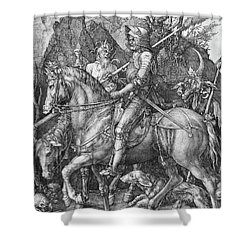 Knight Death And The Devil Shower Curtain