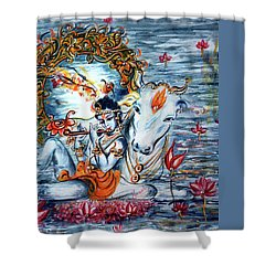 Krishna Shower Curtain by Harsh Malik