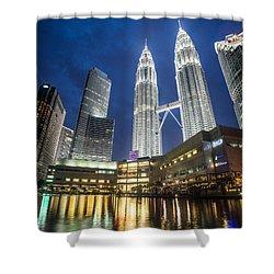 Kuala Lumpur Petronas Towers Shower Curtain