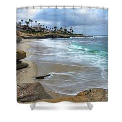La Jolla Shores Shower Curtain