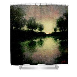 Lagoon At Sunset Shower Curtain