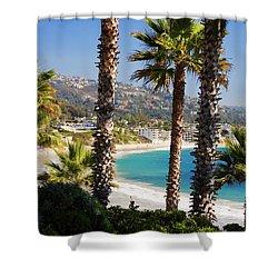 Laguna Beach California Coast Shower Curtain