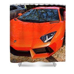 Lamborghini Aventador Shower Curtain
