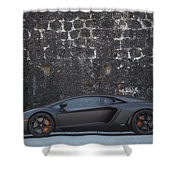 Shower Curtain featuring the photograph #lamborghini #aventador  by ItzKirb Photography