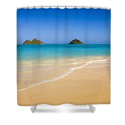 Lanikai, Mokulua Islands Shower Curtain