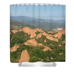 Las Medulas Shower Curtain by Christian Zesewitz