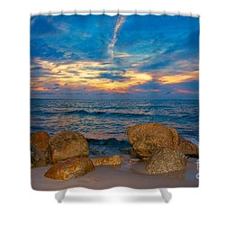 Last Light Shower Curtain by Amazing Jules