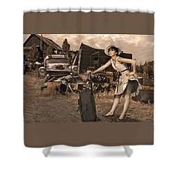 Leaving Home For Good Shower Curtain