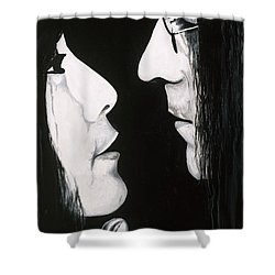 Lennon And Yoko Shower Curtain