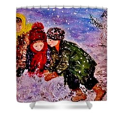 Let It Snow..let It Snow..  Shower Curtain by Cristina Mihailescu