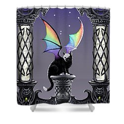 Shower Curtain featuring the digital art Libra by Stanley Morrison